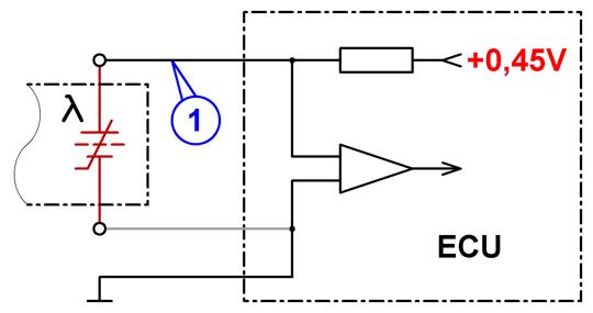 Схема включения лямбда-зонда